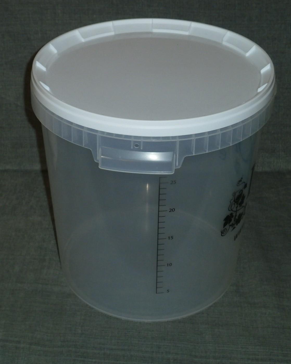 Graduotas fermentacijos indas, 25 litrų